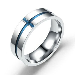 Other - Stainless Steel Engagement Band Ring Size: 6